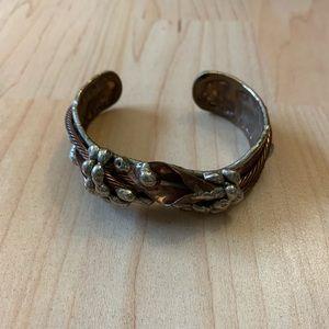 Silver and bronze cuff